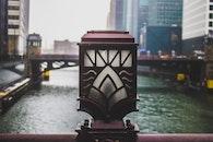 Closeup Photo of Bridge Lamp
