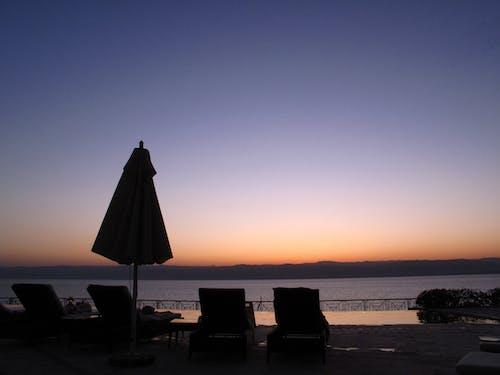 Ảnh lưu trữ miễn phí về bầu trời đêm, bầu trời màu cam, bầu trời tím, biển chết