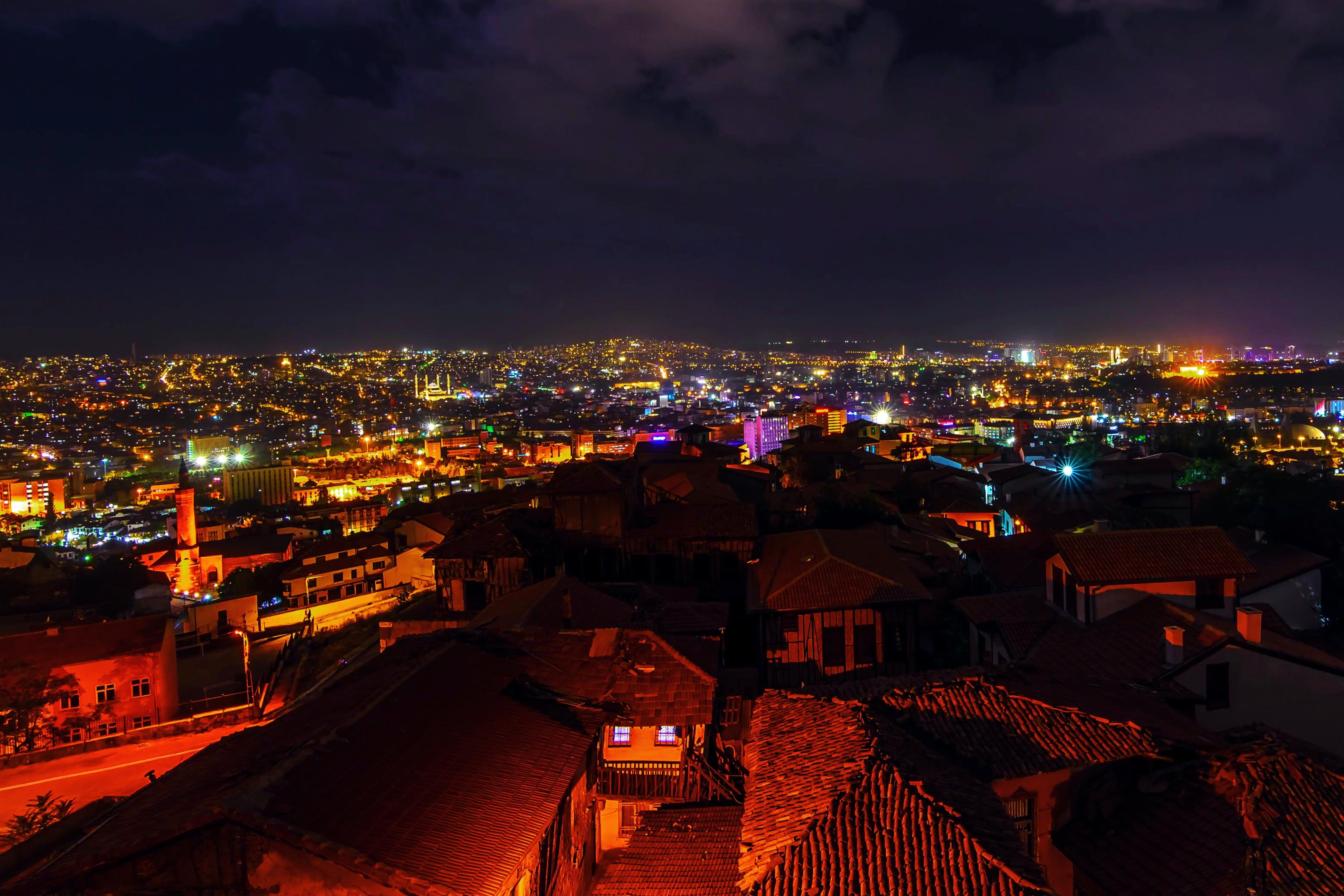 ของ กลางคืน, ตอนเย็น, ตัวเมือง, ตึก