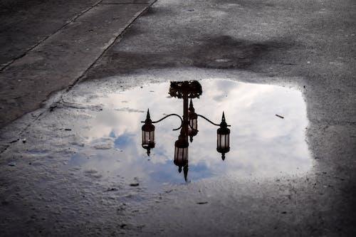 คลังภาพถ่ายฟรี ของ กรอบรูป, การสะท้อน, ท้องฟ้าสีคราม, น้ำ
