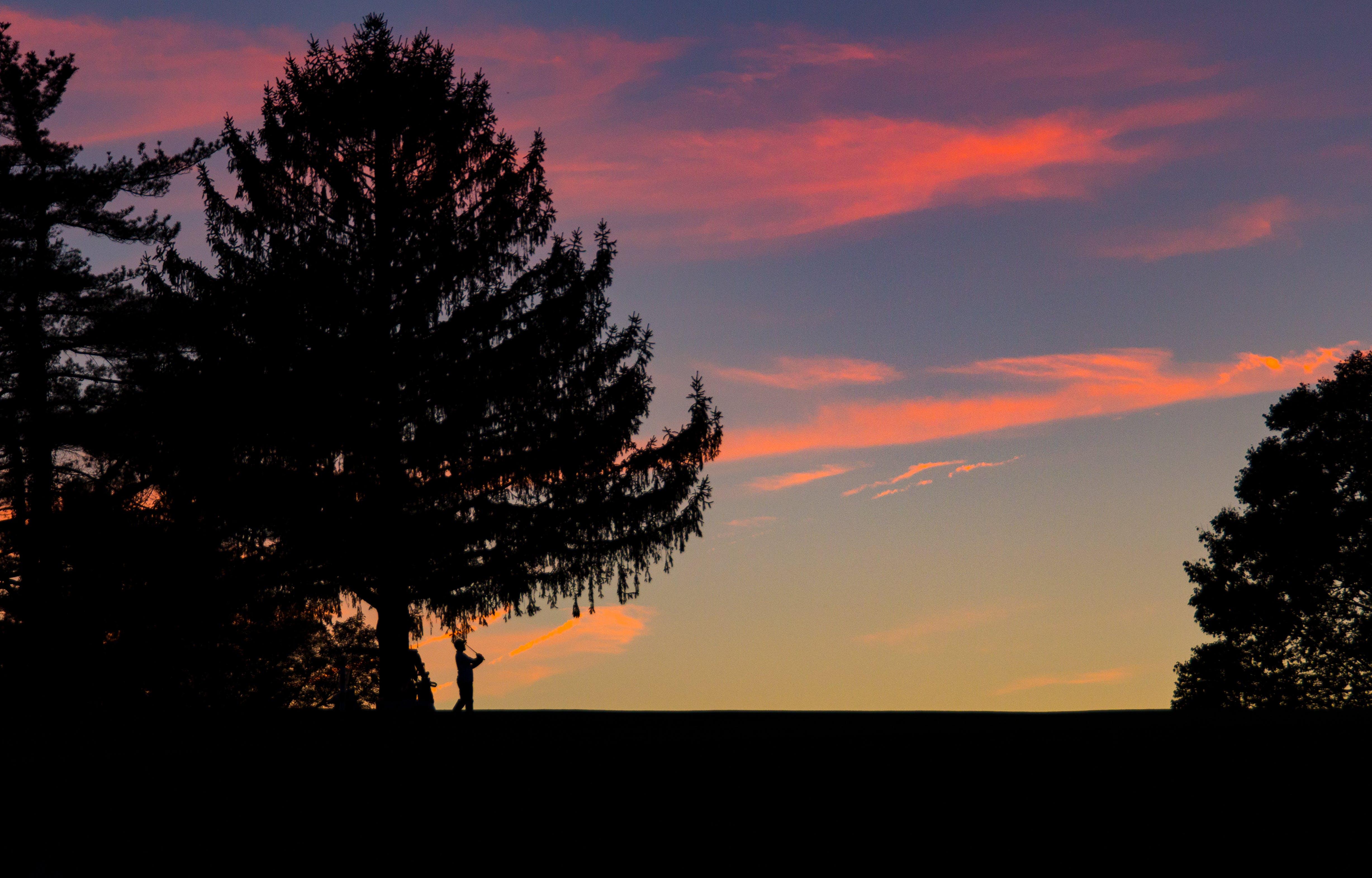 Free stock photo of sunset, summer, golf