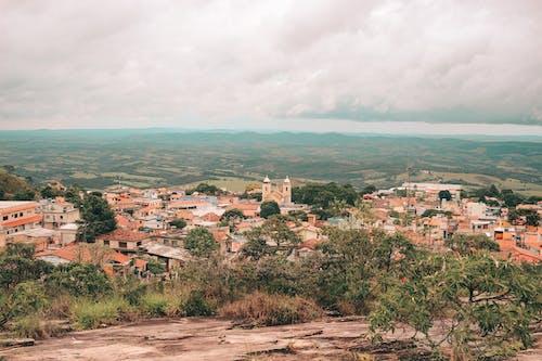 タウン, パノラマ, ランドマーク, 塔の無料の写真素材