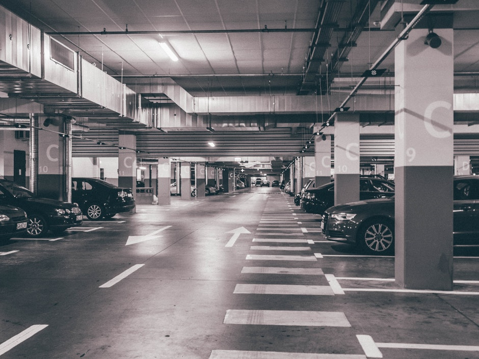 black-and-white, cars, parking