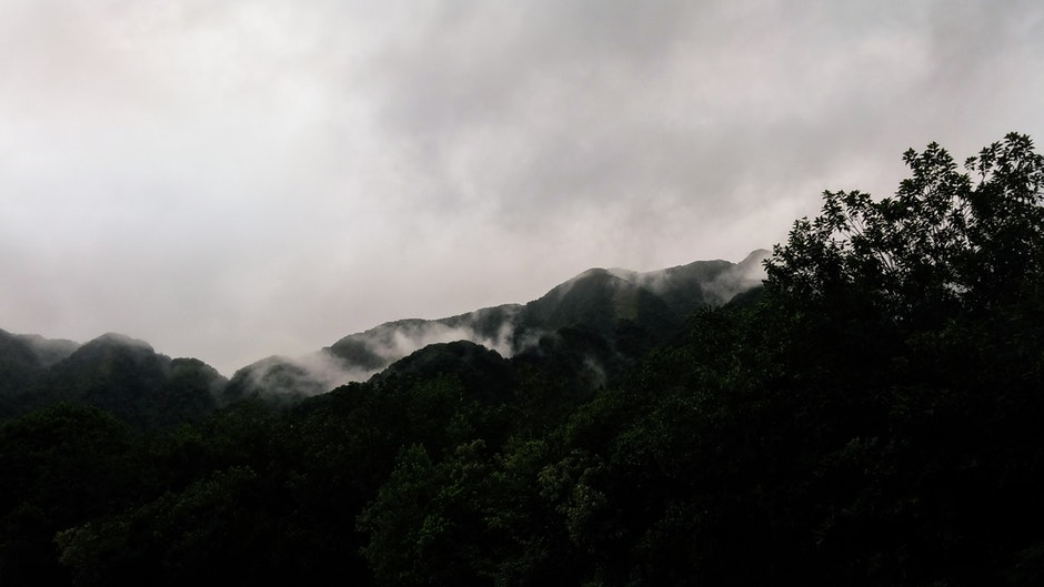 Low-angle Photography of Mountain