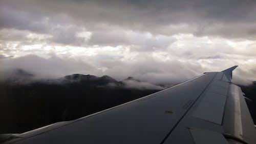 Free stock photo of airplane, cloud, mountains