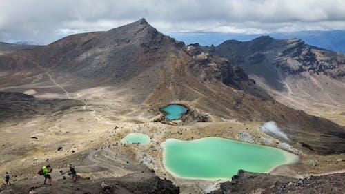 クレーター, ハイキング, 冒険, 山の無料の写真素材