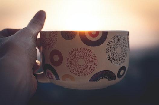 White Green Red and Black Coffee Mug