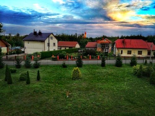 Ingyenes stockfotó éjszaka, falu, kertek, Lengyelország témában