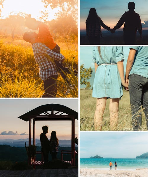 Free stock photo of collage, couple, engagement