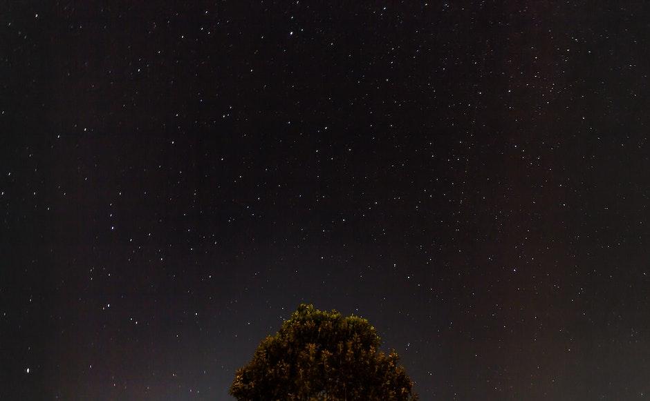 constellation, night, sky