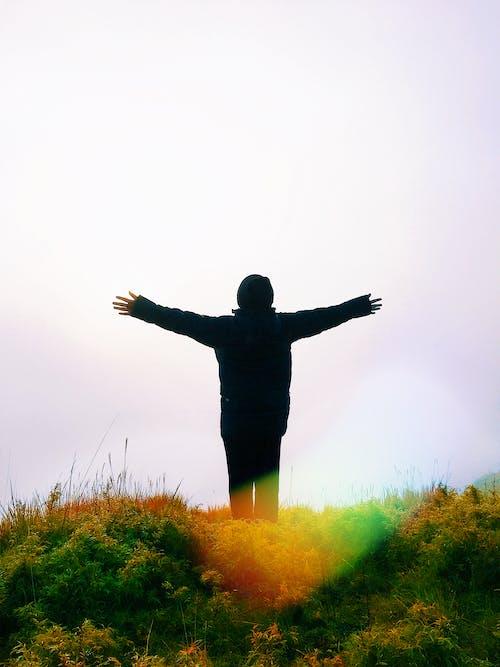 人, 天空, 拍照片, 景觀 的 免費圖庫相片