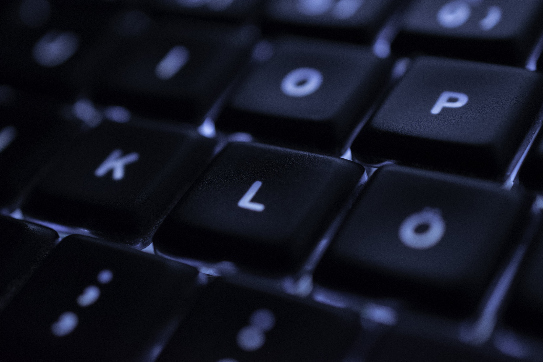 Gratis lagerfoto af blå, sort, tastatur, teknik