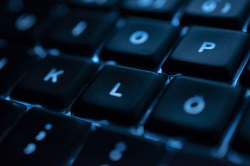 Ilmainen kuvapankkikuva tunnisteilla musta, näppäimistö, sininen, tekniikka