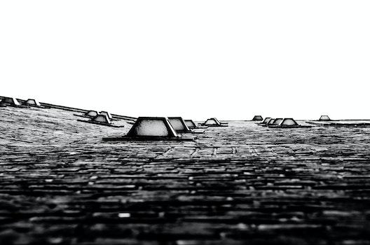 Free stock photo of landscape, sky, bricks, pattern
