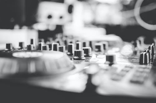 Free stock photo of audio, audio mixer, b&w