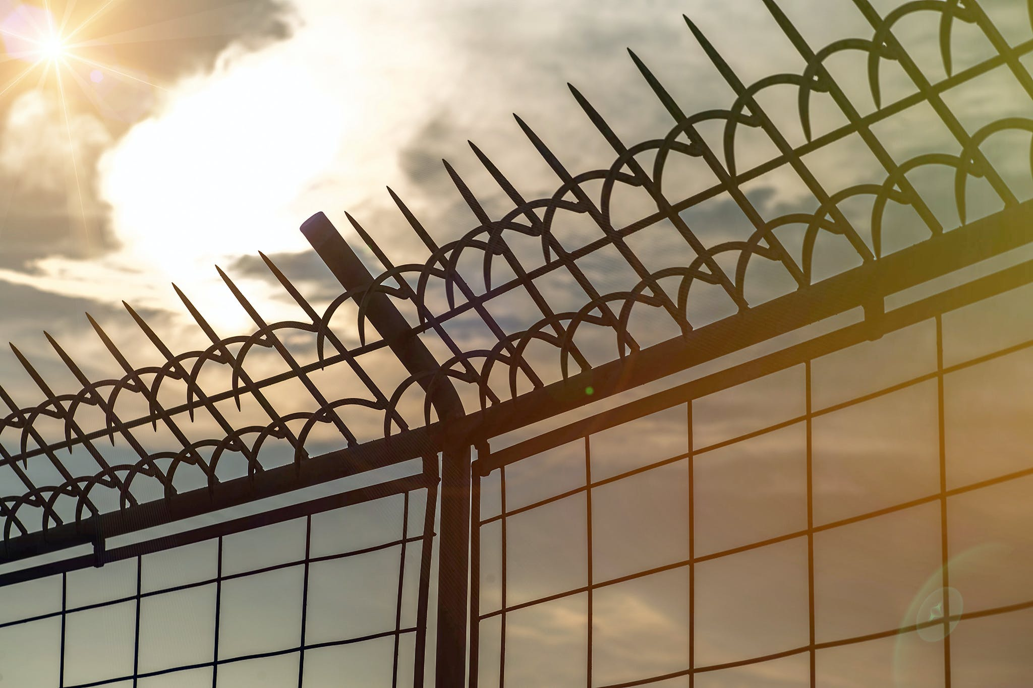 Free stock photo of barb wires, cage, dark, fence