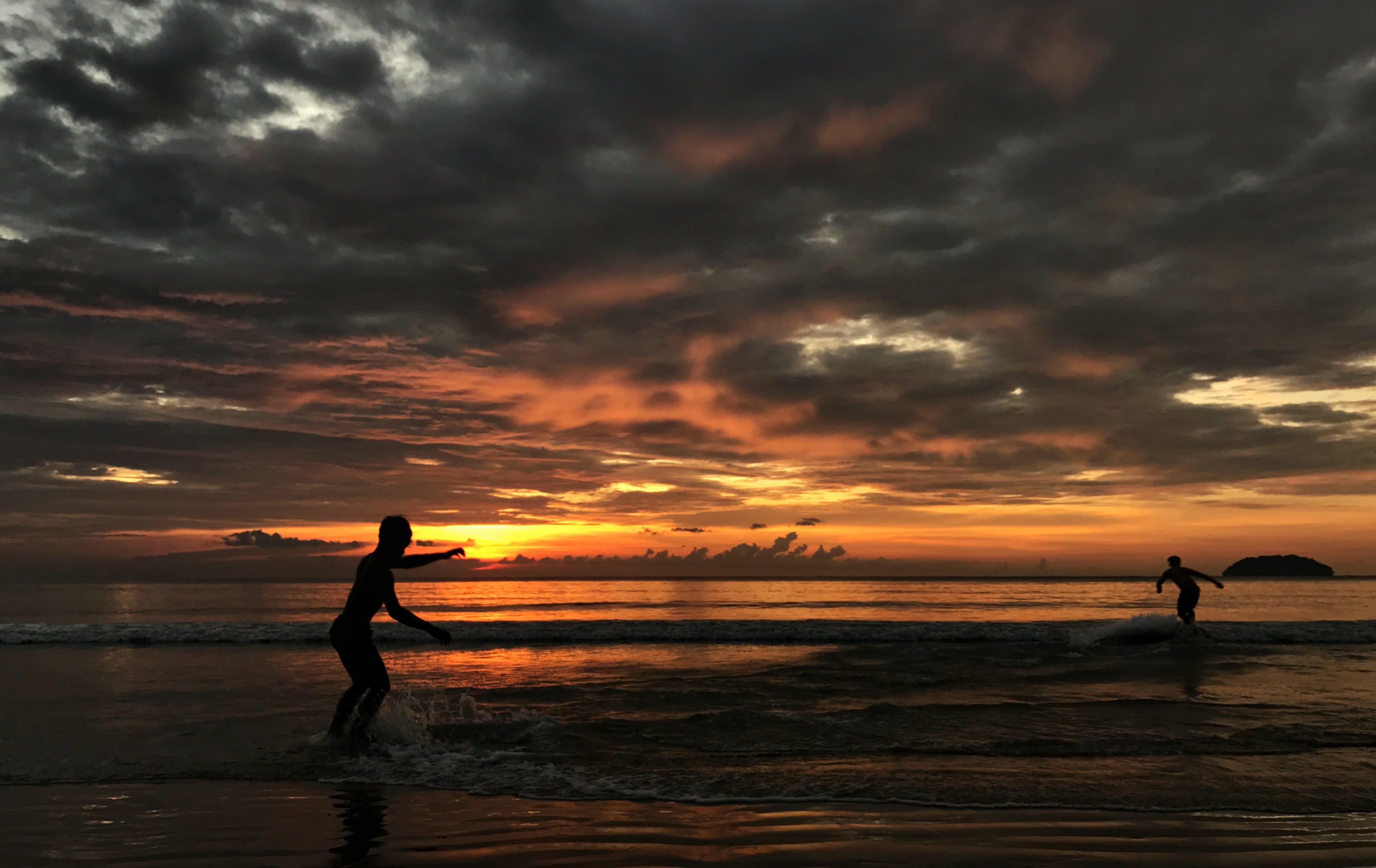 Free stock photo of beach, evening sun, golden sun, golden sunset