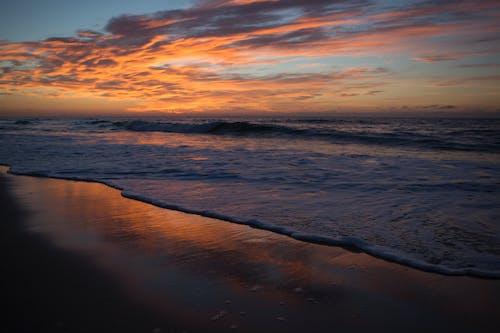 Kostenloses Stock Foto zu abend, atlantischer ozean, dämmerung