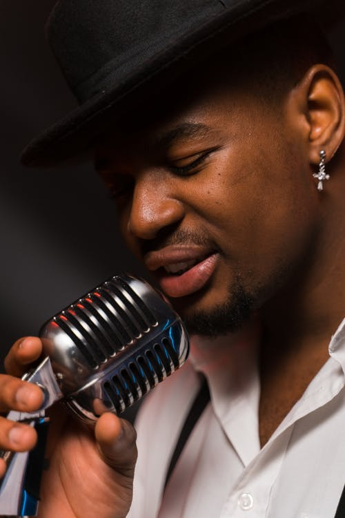 A Singer Holding a Microphone