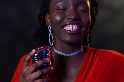 A Beautiful Woman Singing