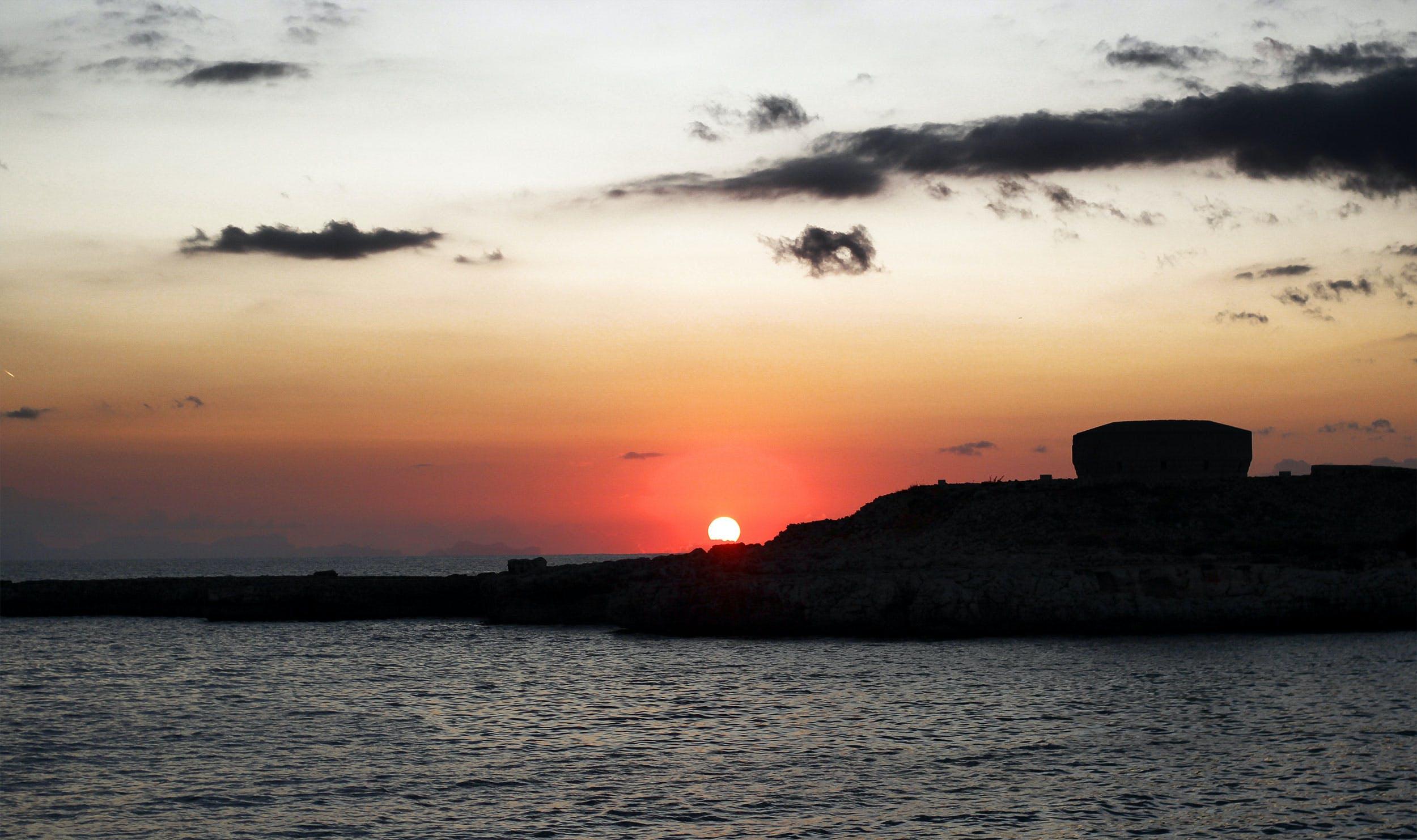 Free stock photo of beach, boat, golden sunset, happy