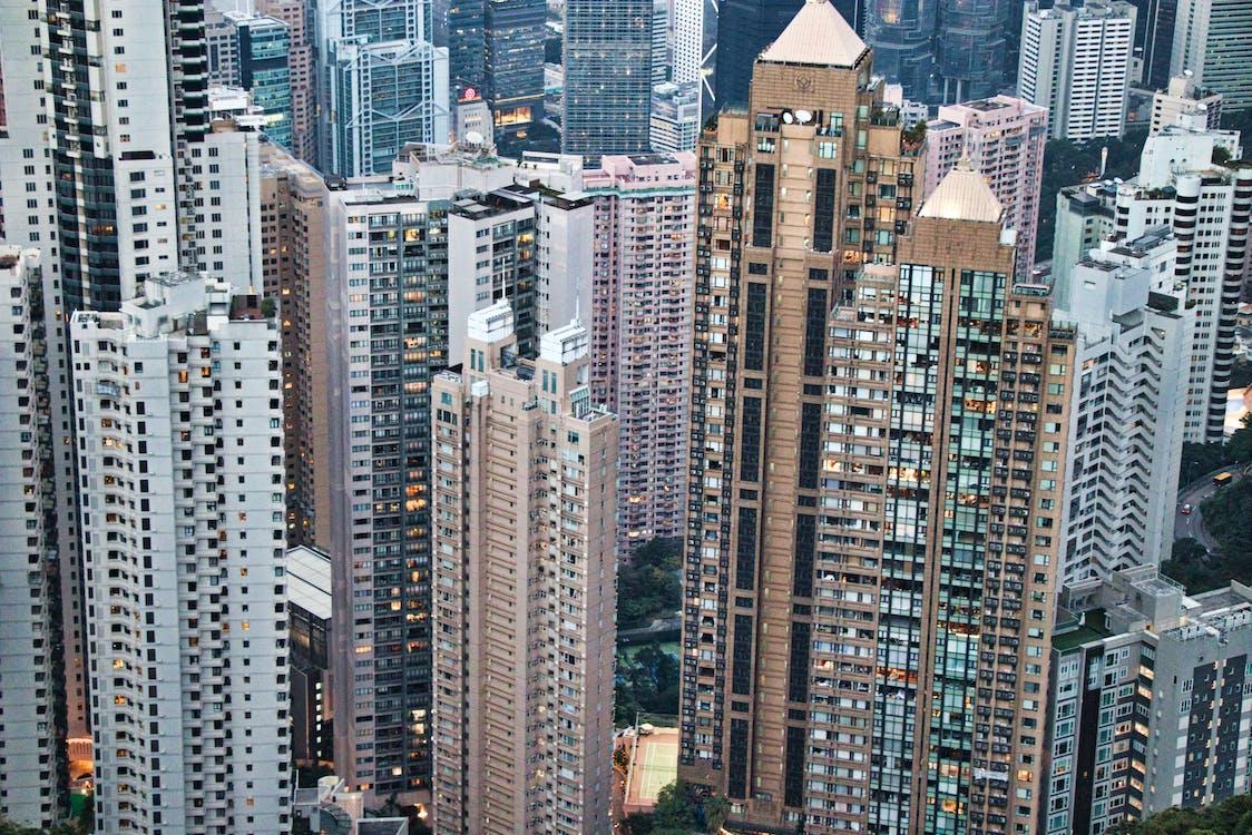 Top View Of Skyscrapers