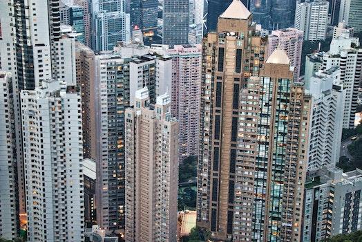 Kostenloses Stock Foto zu stadt, vogelperspektive, skyline, gebäude