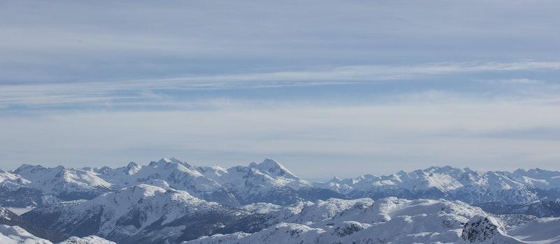 Aerial Photo Of Snowy Mountain Range