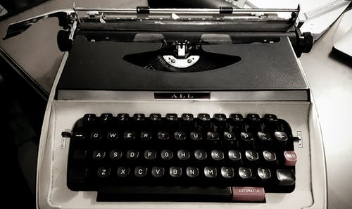 Free stock photo of Old type writter