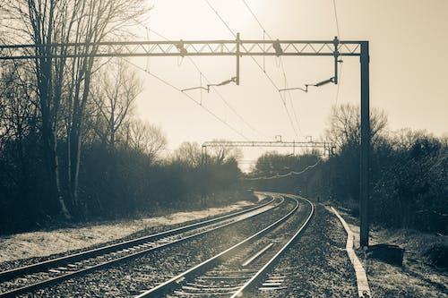 Foto d'estoc gratuïta de acer, alba, entrenar, ferrocarril