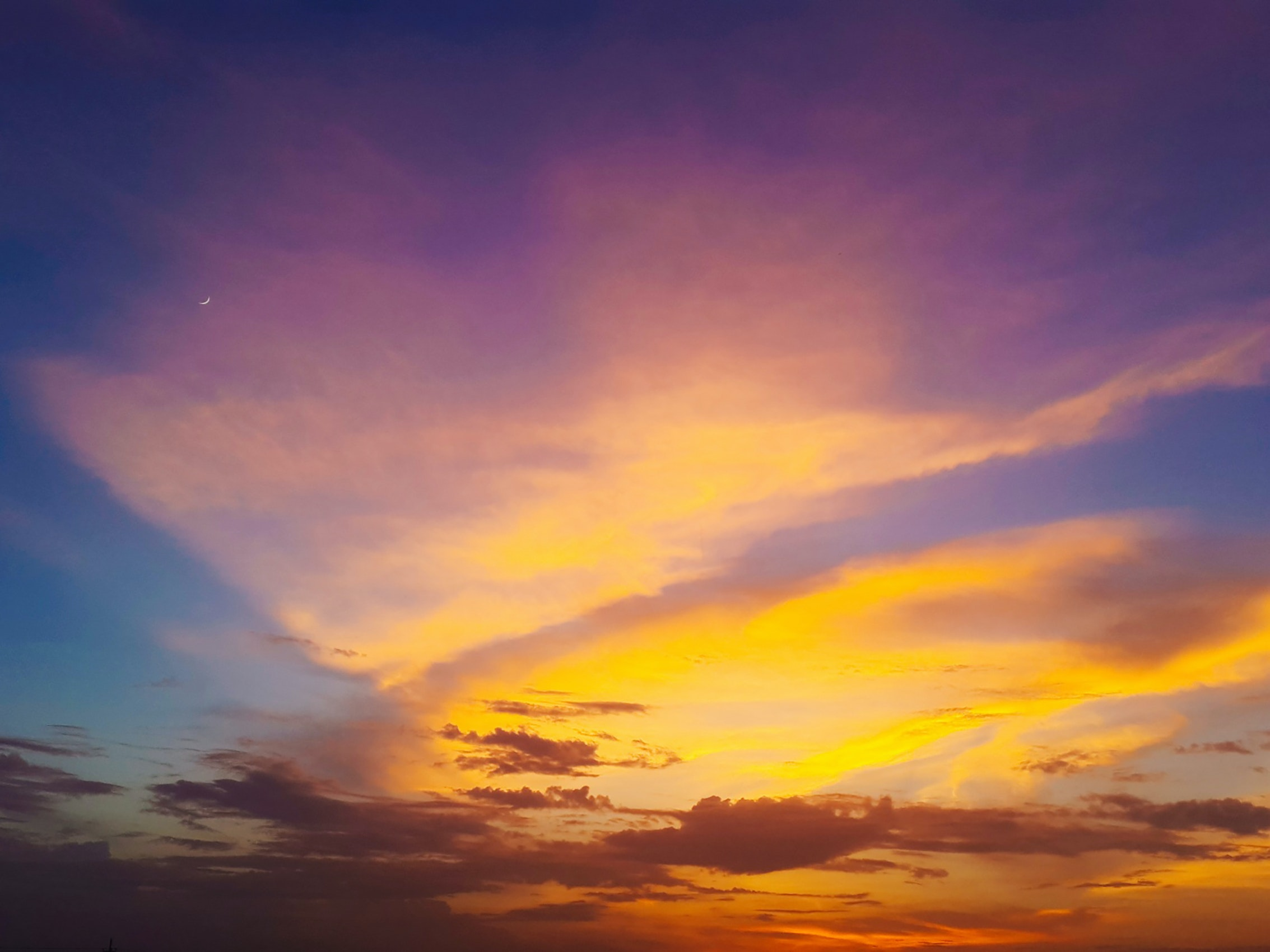 Sunset Under Cloudy Clouds 183 Free Stock Photo