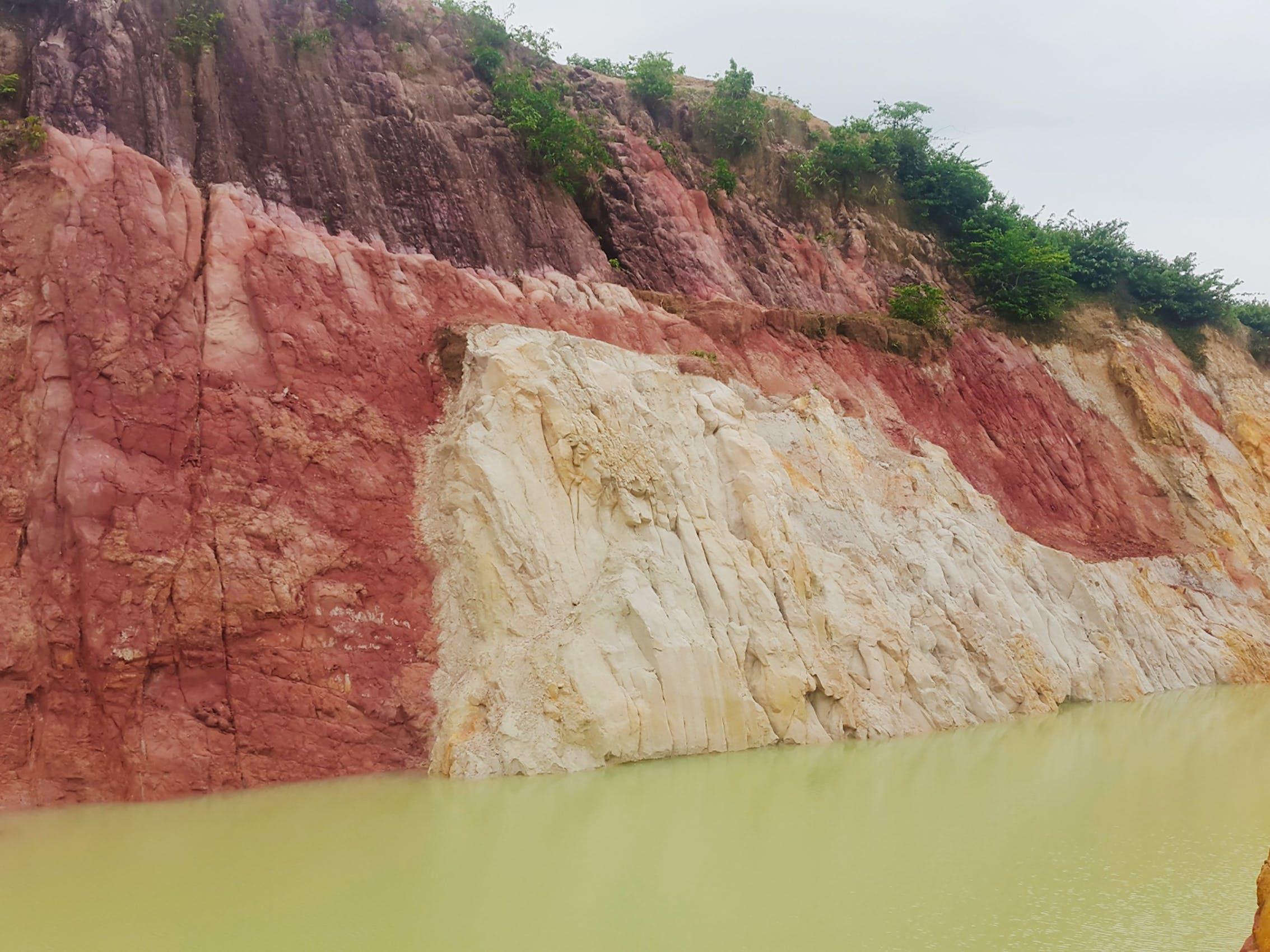 lake, soil