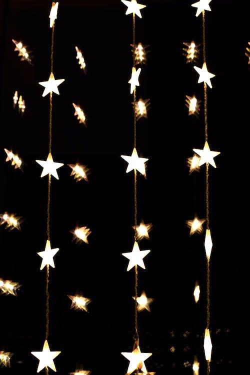 Free stock photo of light garland, lights, stars
