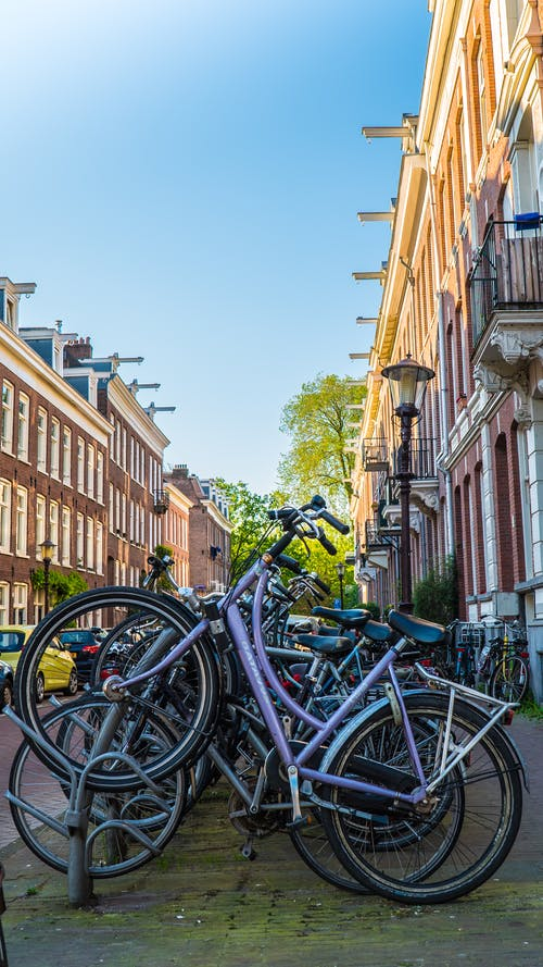 Free stock photo of amsterdam, bicycle, street