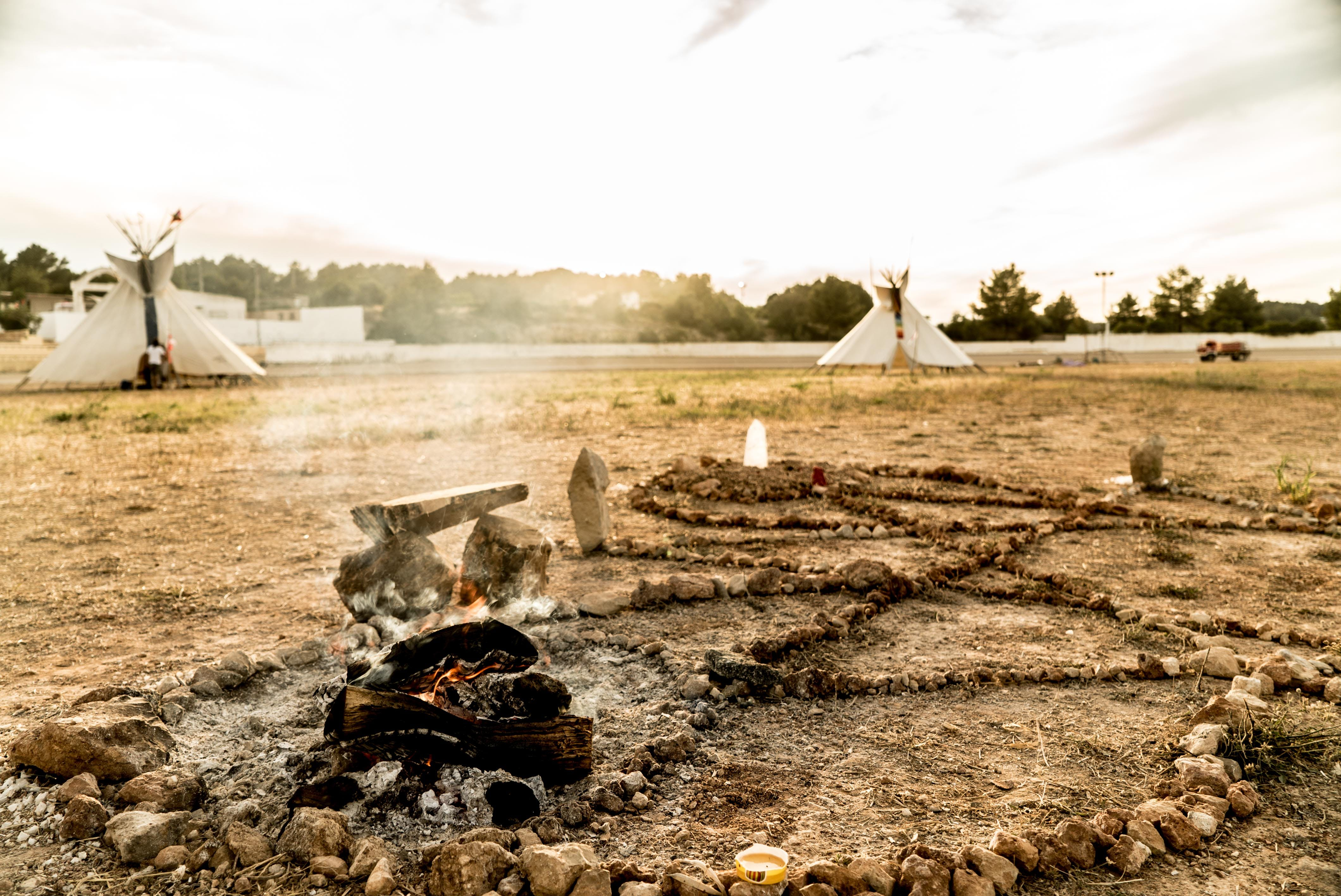 Free stock photo of fire, native American, teepee