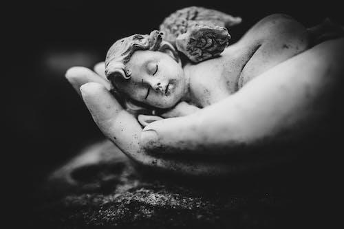 Foto profissional grátis de anjo, calmo, cemitério
