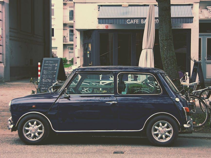 Blue 5 Door Hatchback