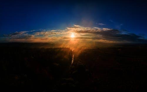Ingyenes stockfotó devon, drámai ég, drón témában