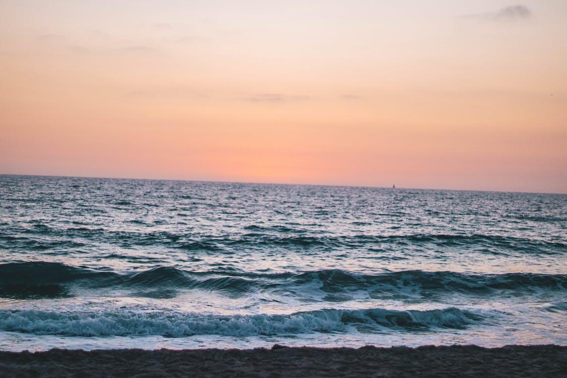 dramatický, horizont, krajina