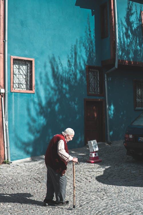 Immagine gratuita di andare in pensione, anziano, azzurro