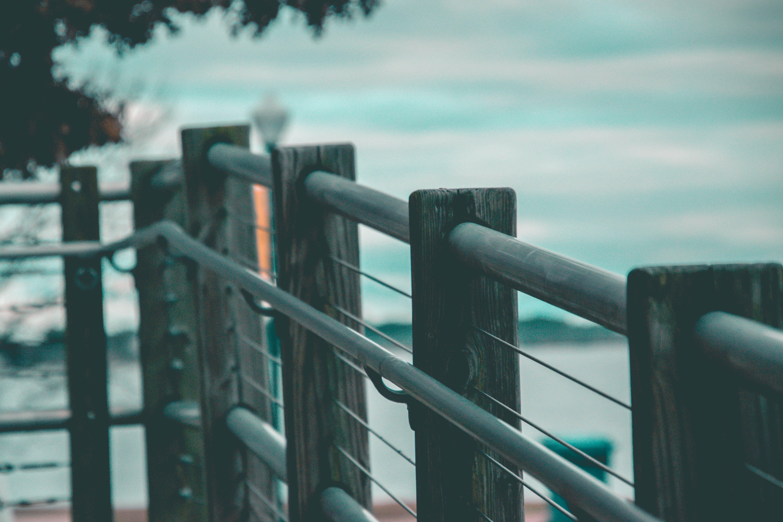 Closeup Photo of Black Steel Handrail