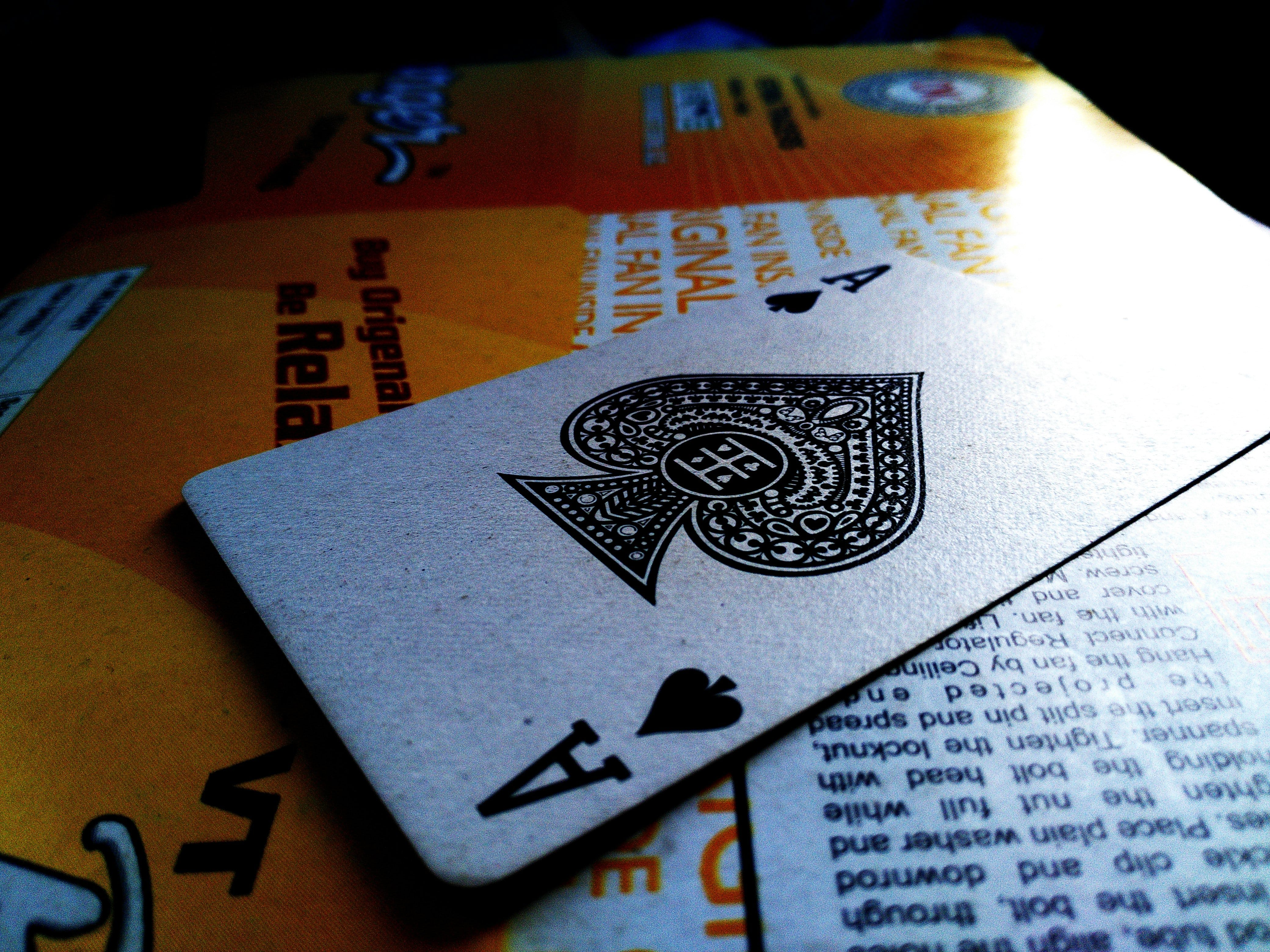 Free stock photo of ace, card