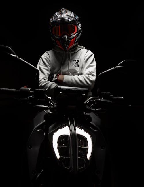 Free stock photo of armor, bike, biker