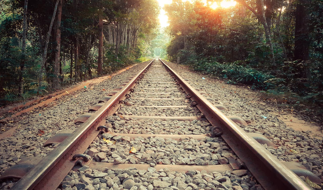 Free stock photo of lonely, path, train line