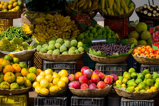 Free stock photo of fruits, market