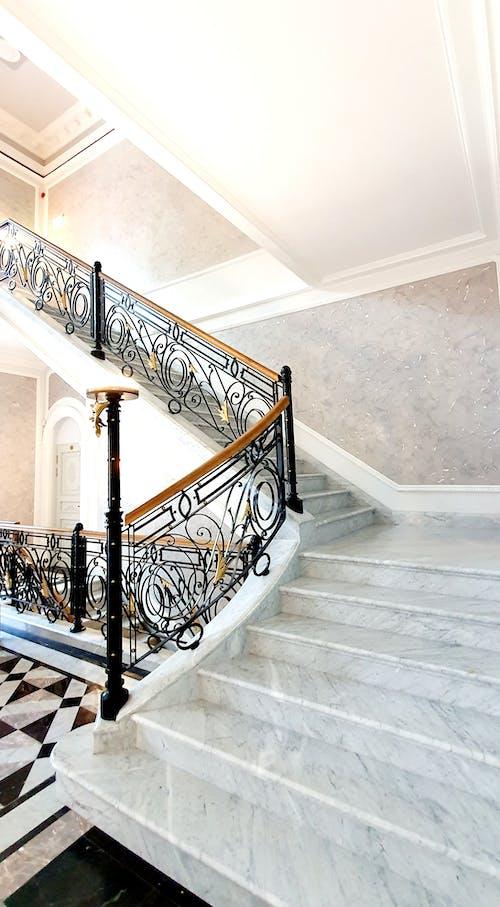 大理石楼梯, 奢华的设计, 室內設計 的 免费素材图片