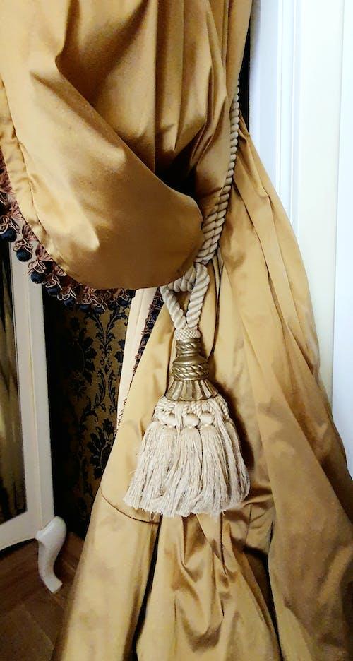 串珠的窗帘, 卧室室内, 室內設計 的 免费素材图片