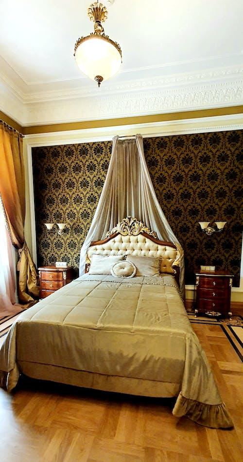 卧室室内, 地板, 壁紙 的 免费素材图片