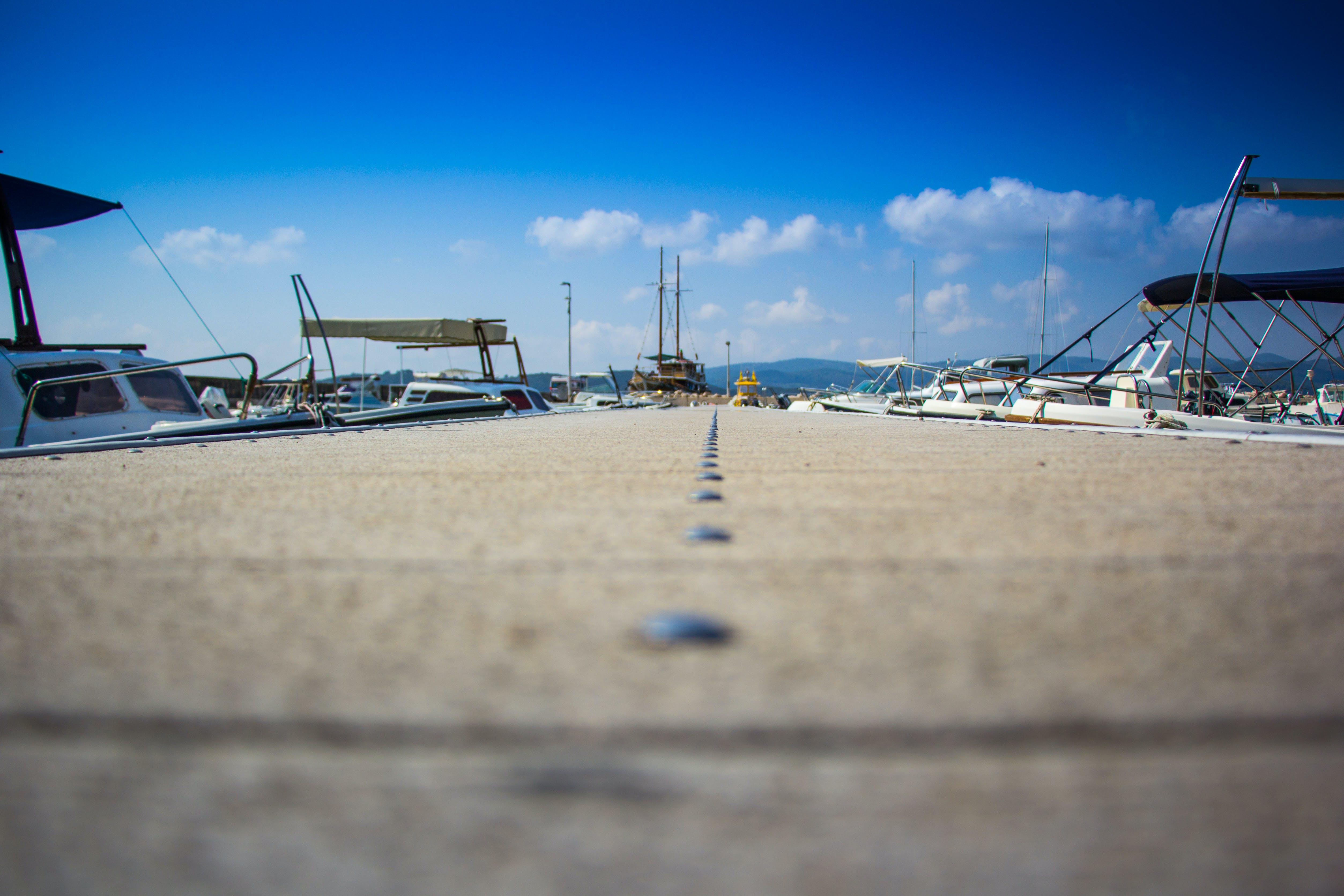 Empty Boardwalk of Ship Dock