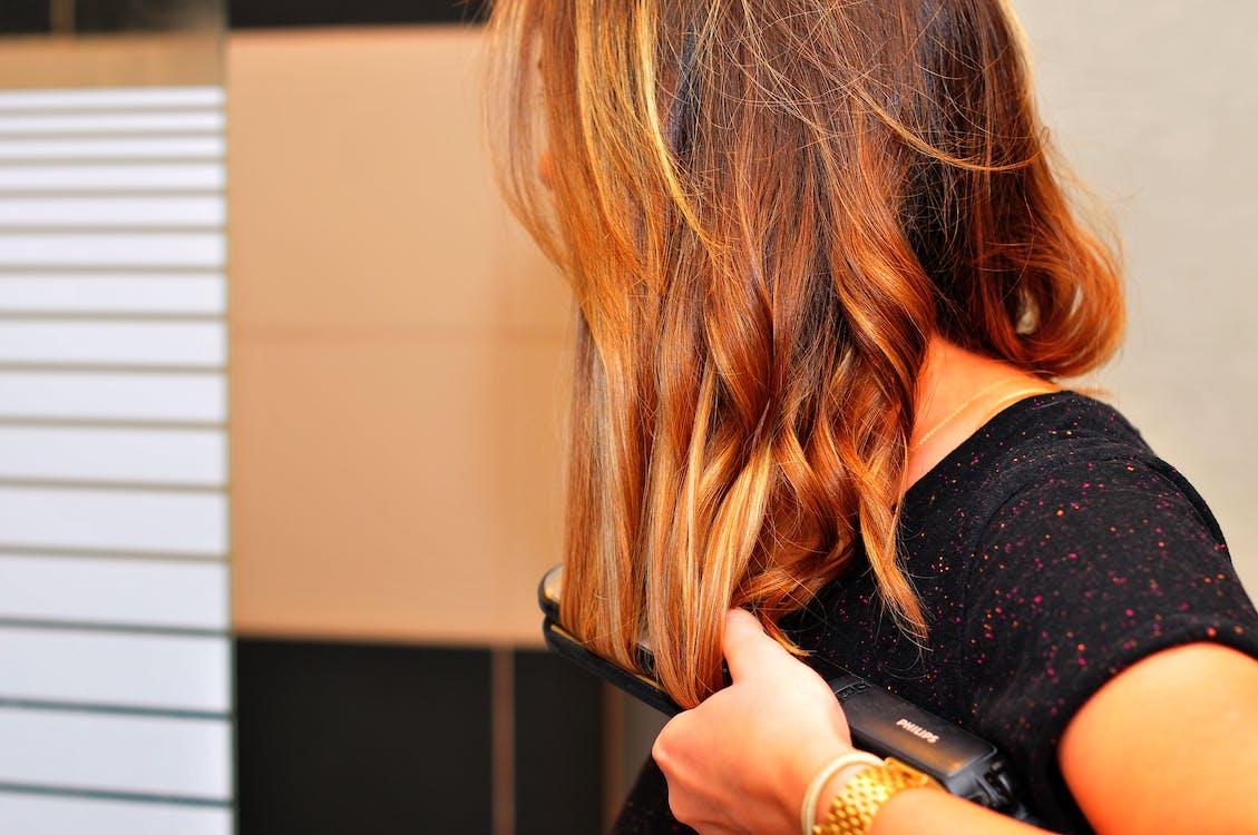 female, flat iron, hair